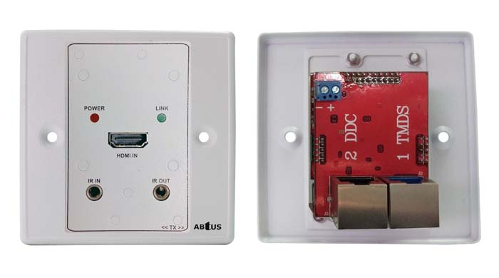 Hdmi Over Cat-5 Wall Plate Extender